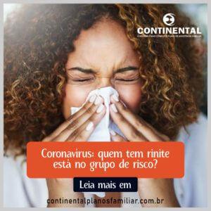 Coronavírus: quem tem rinite está no grupo de risco?