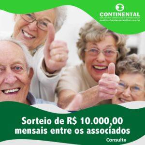 SORTEIO MENSAL DE R$ 10.000